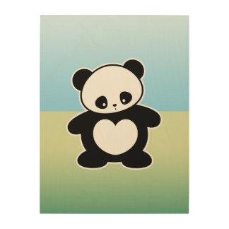 Panda de Kawaii Cuadro De Madera