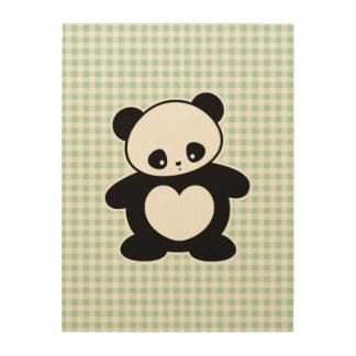 Panda de Kawaii Cuadros De Madera