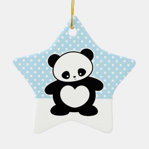 Panda de Kawaii Adorno De Cerámica En Forma De Estrella