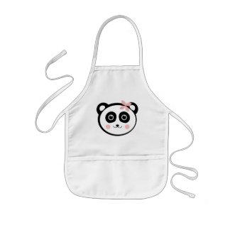 Panda de Kawaii Delantal