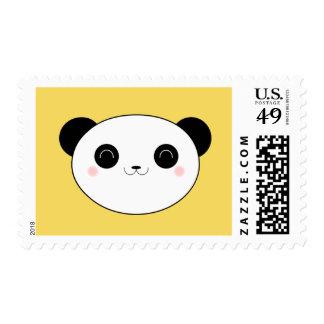 Panda de Kawaii en franqueo amarillo