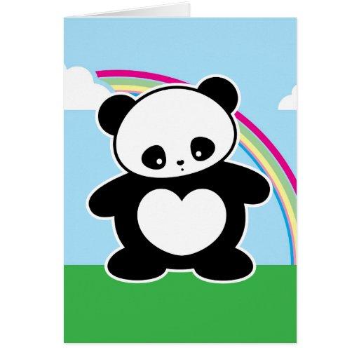 Panda de Kawaii Felicitación