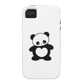 Panda de Kawaii Case-Mate iPhone 4 Carcasas