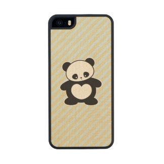 Panda de Kawaii Funda De Arce Carved® Para iPhone 5 Slim