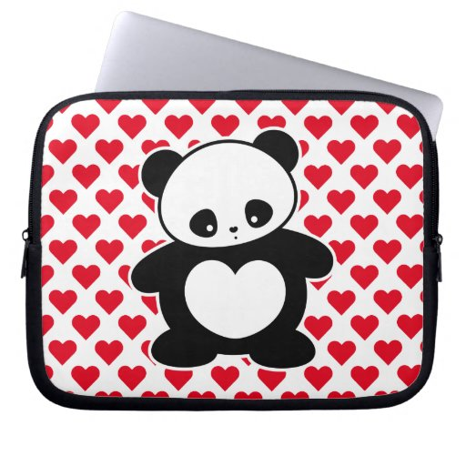 Panda de Kawaii Funda Portátil