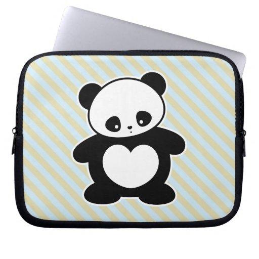Panda de Kawaii Fundas Computadoras