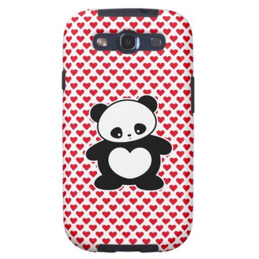 Panda de Kawaii Galaxy S3 Fundas
