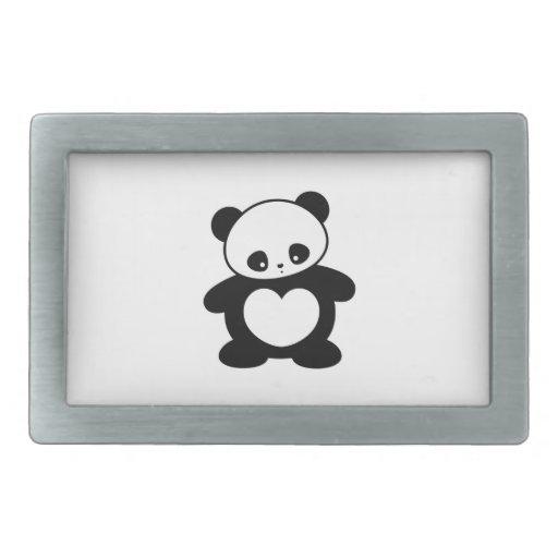 Panda de Kawaii Hebilla Cinturón Rectangular