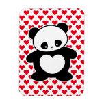 Panda de Kawaii Imán Rectangular