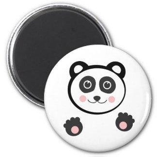 Panda de Kawaii Imán Redondo 5 Cm