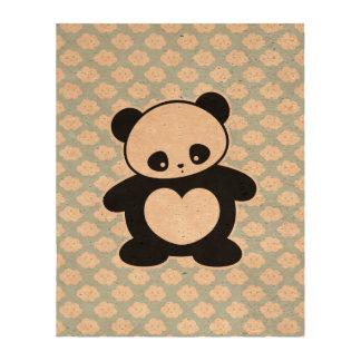 Panda de Kawaii Impresión En Corcho