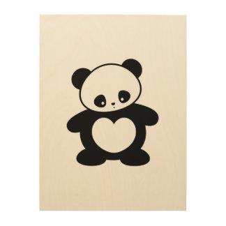 Panda de Kawaii Impresiones En Madera