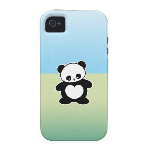 Panda de Kawaii iPhone 4 Carcasa