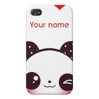 Panda de Kawaii iPhone 4 Funda