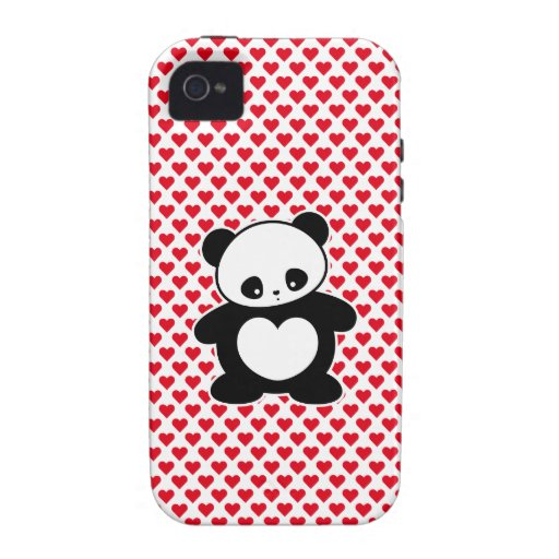 Panda de Kawaii iPhone 4 Fundas