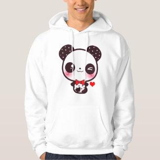 Panda de Kawaii Jersey Encapuchado