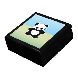 Panda de Kawaii Joyero Cuadrado Grande