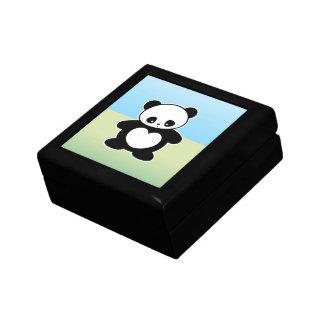 Panda de Kawaii Joyero Cuadrado Pequeño