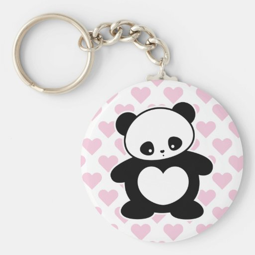 Panda de Kawaii Llavero Redondo Tipo Pin