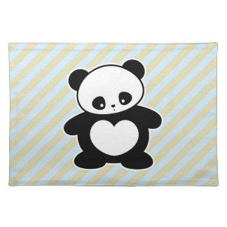Panda de Kawaii Mantel Individual