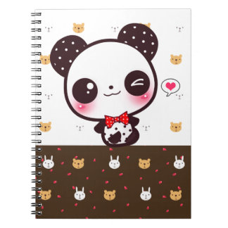 Panda de Kawaii Note Book