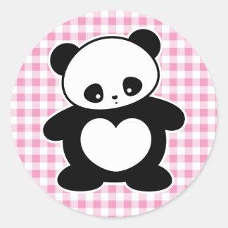 Panda de Kawaii Pegatina Redonda