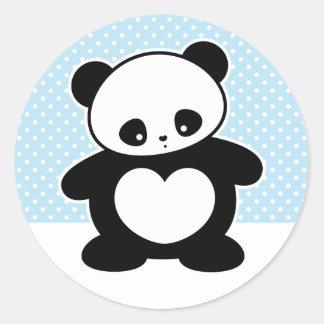 Panda de Kawaii Pegatinas Redondas