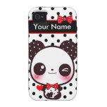 Panda de Kawaii - personalizada Vibe iPhone 4 Carcasa