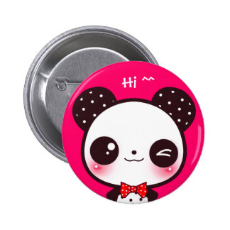 Panda de Kawaii Pin Redondo De 2 Pulgadas