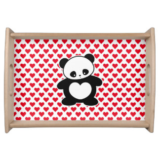 Panda de Kawaii Bandeja