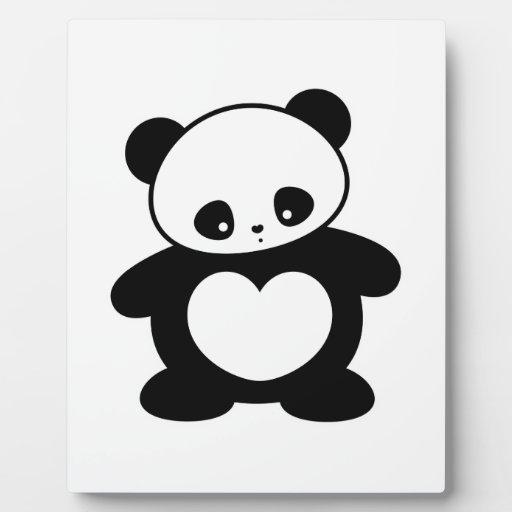 Panda de Kawaii Placas Para Mostrar