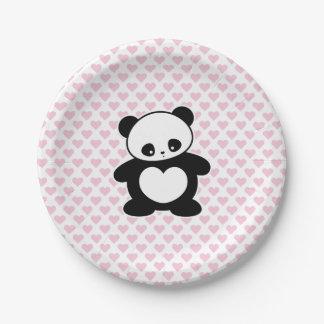 Panda de Kawaii Plato De Papel De 7 Pulgadas