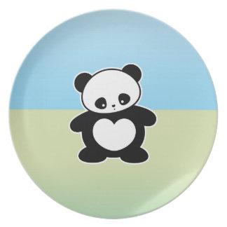 Panda de Kawaii Platos De Comidas