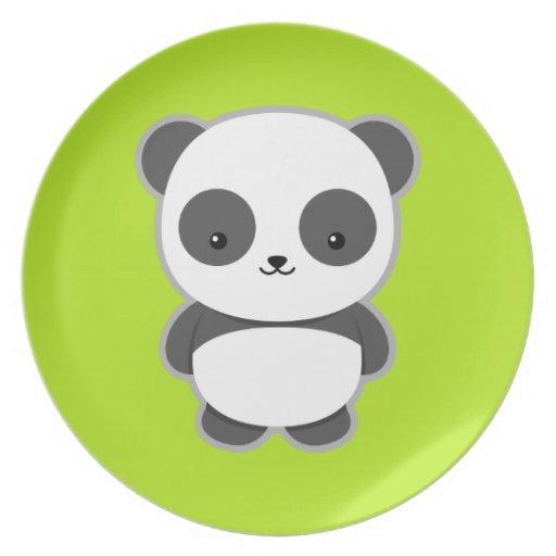 Panda de Kawaii Plato Para Fiesta