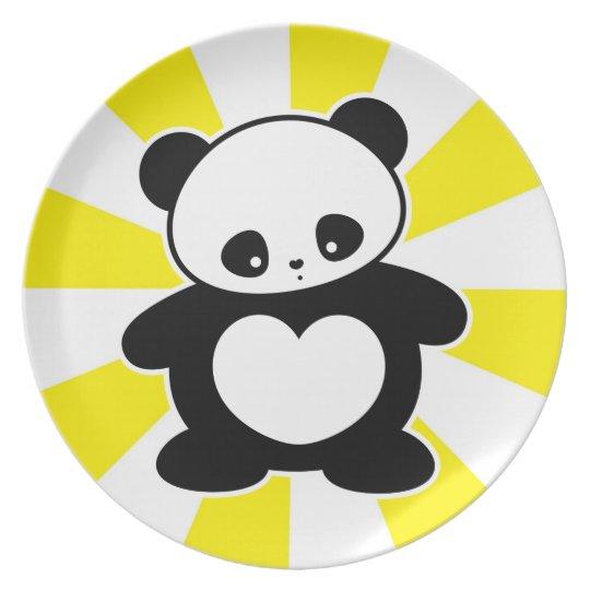 Panda de Kawaii Platos
