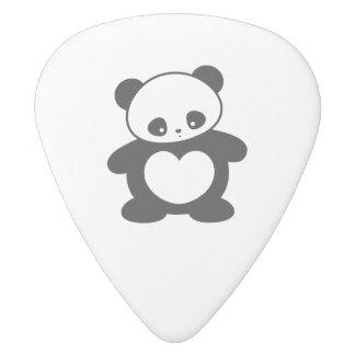 Panda de Kawaii Plectro De Delrin Blanco