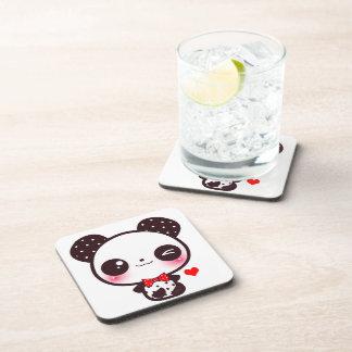Panda de Kawaii Posavasos De Bebidas