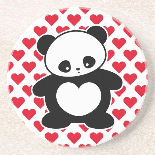 Panda de Kawaii Posavasos Para Bebidas