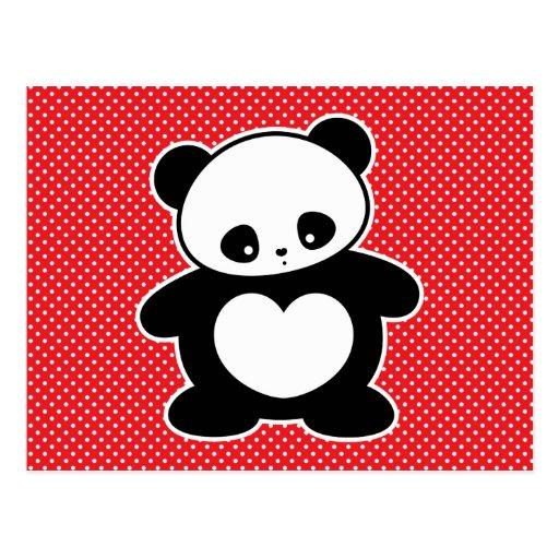 Panda de Kawaii Postal