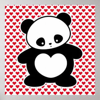 Panda de Kawaii Póster