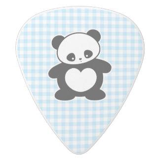 Panda de Kawaii Púa De Guitarra Delrin Blanco