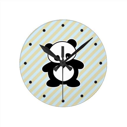 Panda de Kawaii Reloj De Pared