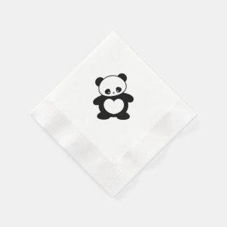 Panda de Kawaii Servilletas De Papel