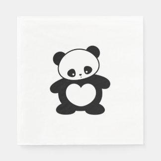Panda de Kawaii Servilleta Desechable