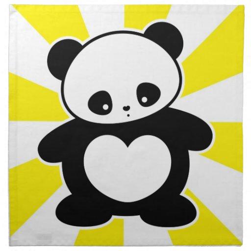 Panda de Kawaii Servilleta Imprimida
