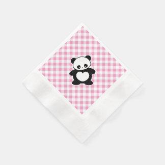 Panda de Kawaii Servilletas Desechables