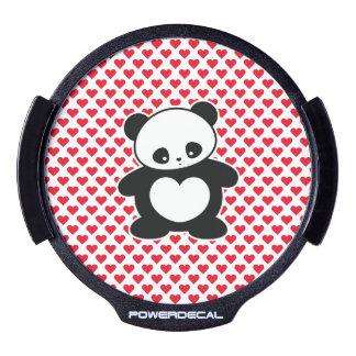 Panda de Kawaii Sticker LED Para Ventana