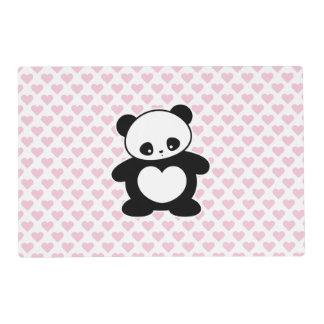 Panda de Kawaii Tapete Individual