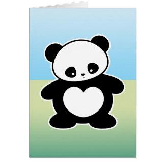 Panda de Kawaii Tarjeta De Felicitación