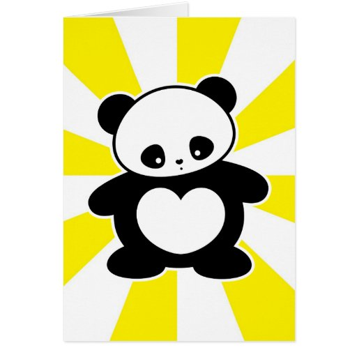 Panda de Kawaii Tarjetas